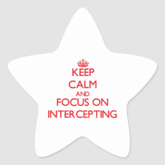 Guarde la calma y el foco en la interceptación calcomanías forma de estrellaes