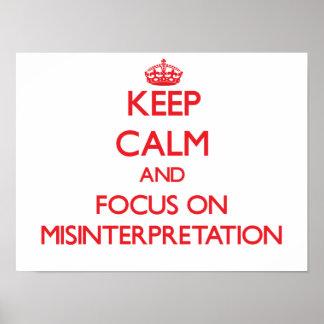 Guarde la calma y el foco en la interpretación