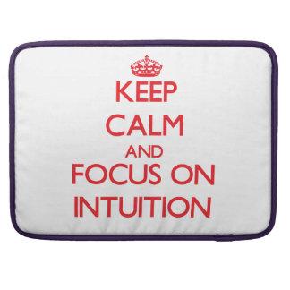 Guarde la calma y el foco en la intuición funda para macbooks