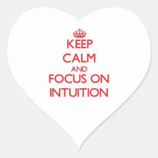 Guarde la calma y el foco en la intuición
