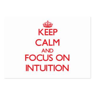 Guarde la calma y el foco en la intuición tarjetas de visita grandes