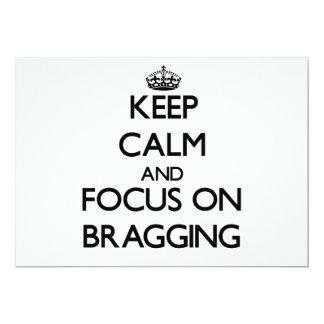 Guarde la calma y el foco en la jactancia comunicado personal