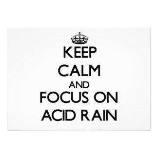 Guarde la calma y el foco en la lluvia ácida