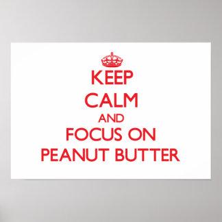 Guarde la calma y el foco en la mantequilla de cac