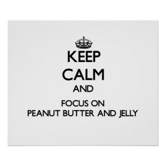 Guarde la calma y el foco en la mantequilla y la j