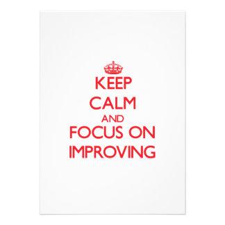 Guarde la calma y el foco en la mejora