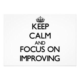 Guarde la calma y el foco en la mejora comunicados