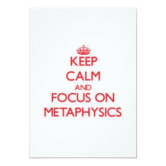 Guarde la calma y el foco en la metafísica invitación 12,7 x 17,8 cm