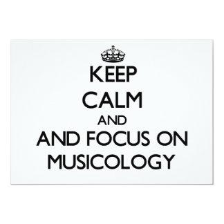 Guarde la calma y el foco en la musicología anuncio