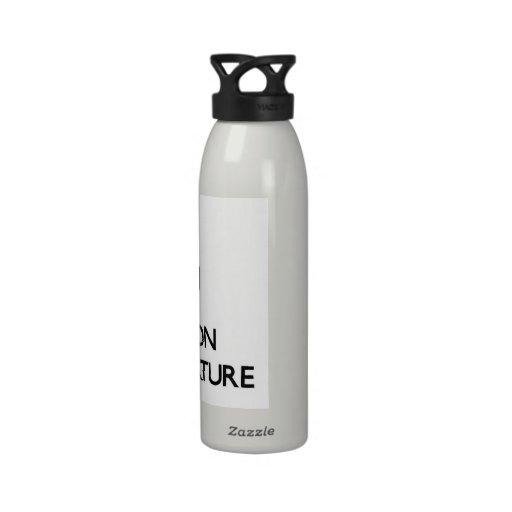 Guarde la calma y el foco en la naturaleza humana botellas de beber