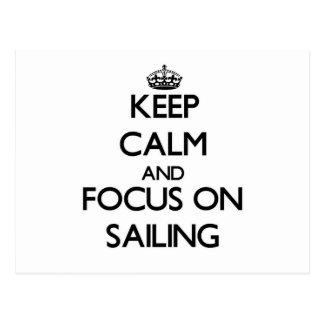Guarde la calma y el foco en la navegación