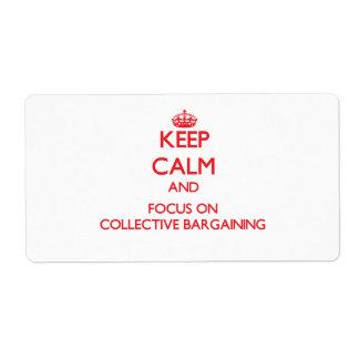 Guarde la calma y el foco en la negociación colect