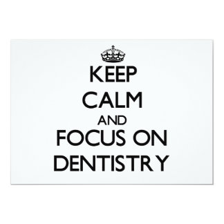 Guarde la calma y el foco en la odontología anuncios personalizados