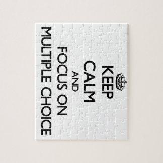 Guarde la calma y el foco en la opción múltiple