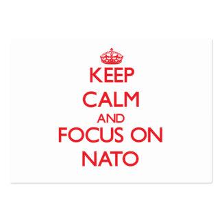 Guarde la calma y el foco en la OTAN Tarjetas De Visita Grandes