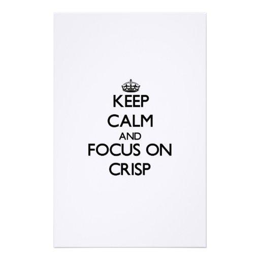 Guarde la calma y el foco en la patata a la ingles  papeleria de diseño