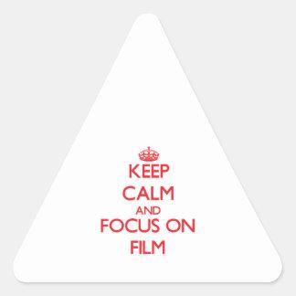 Guarde la calma y el foco en la película