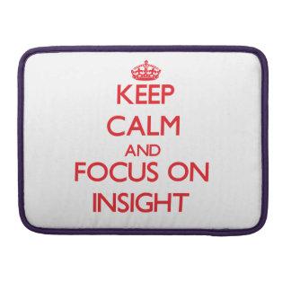 Guarde la calma y el foco en la penetración funda para macbook pro