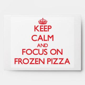 Guarde la calma y el foco en la pizza congelada