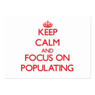 Guarde la calma y el foco en la población tarjeta personal