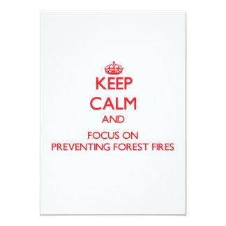 Guarde la calma y el foco en la prevención de los invitación 12,7 x 17,8 cm
