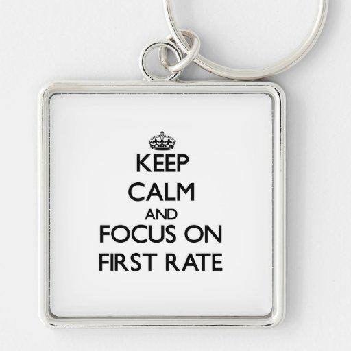 Guarde la calma y el foco en la primera tarifa llavero