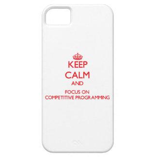 Guarde la calma y el foco en la programación compe iPhone 5 Case-Mate cárcasas