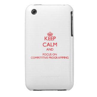 Guarde la calma y el foco en la programación compe Case-Mate iPhone 3 carcasa