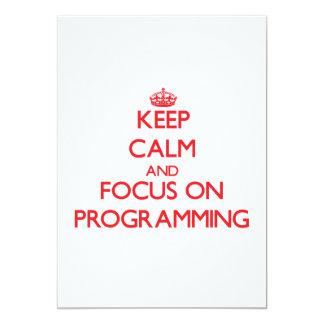 Guarde la calma y el foco en la programación comunicado