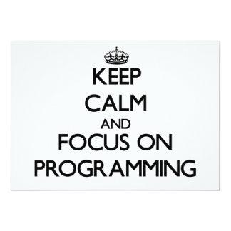 Guarde la calma y el foco en la programación comunicados personalizados