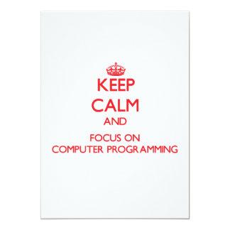 Guarde la calma y el foco en la programación invitación