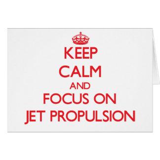 Guarde la calma y el foco en la propulsión a chorr felicitacion