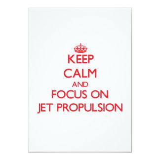 Guarde la calma y el foco en la propulsión a comunicado personalizado
