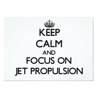 Guarde la calma y el foco en la propulsión a invitación
