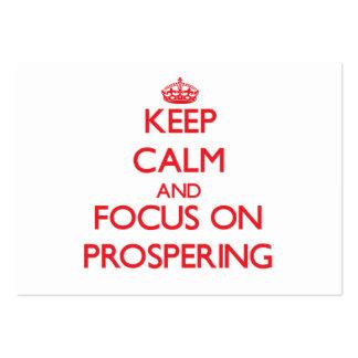 Guarde la calma y el foco en la prosperidad