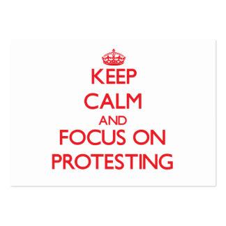 Guarde la calma y el foco en la protesta