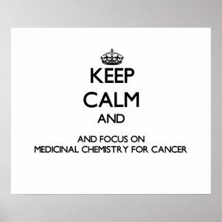 Guarde la calma y el foco en la química medicinal poster