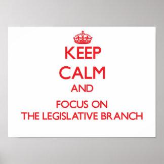 Guarde la calma y el foco en la rama legislativa poster