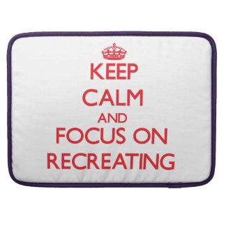 Guarde la calma y el foco en la reconstrucción funda para macbooks