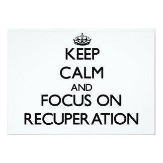 """Guarde la calma y el foco en la recuperación invitación 5"""" x 7"""""""