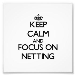 Guarde la calma y el foco en la red