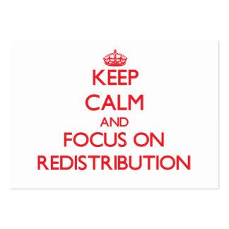 Guarde la calma y el foco en la redistribución tarjetas de visita grandes