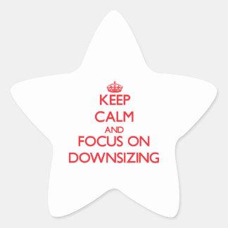Guarde la calma y el foco en la reducción de la pegatina en forma de estrella