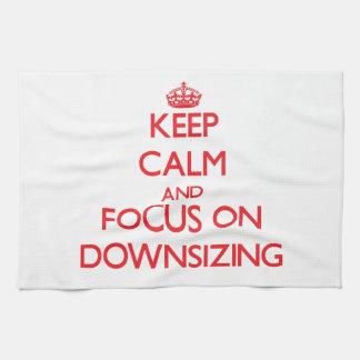 Guarde la calma y el foco en la reducción de la ta toallas