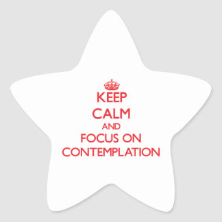 Guarde la calma y el foco en la reflexión colcomanias forma de estrellaes personalizadas