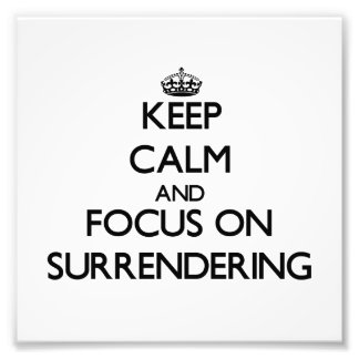 Guarde la calma y el foco en la rendición cojinete