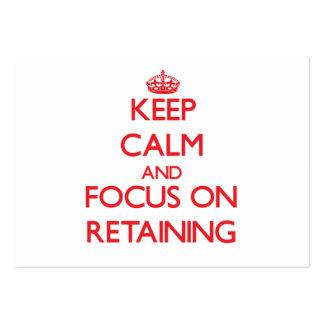 Guarde la calma y el foco en la retención tarjetas de visita