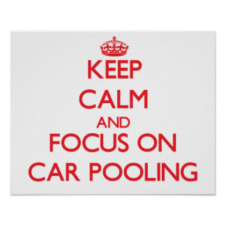 Guarde la calma y el foco en la reunión del coche poster