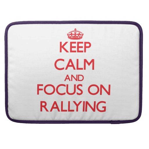Guarde la calma y el foco en la reunión funda para macbook pro