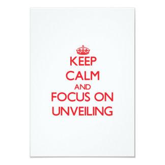 """Guarde la calma y el foco en la revelación invitación 3.5"""" x 5"""""""